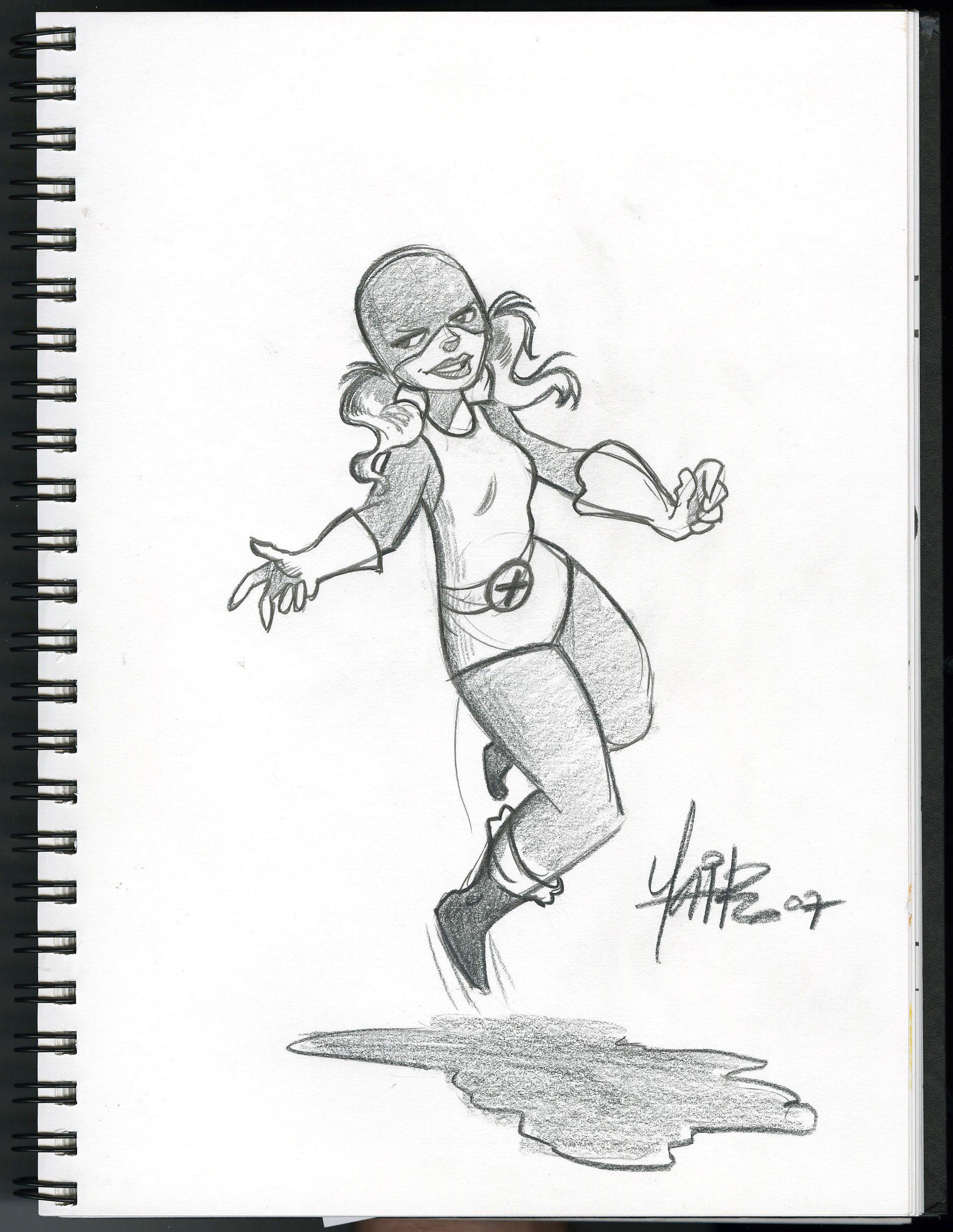 Jim Lee Catwoman Sketch